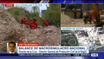 Presentan Balance Macrosimulacro Nacional 19S