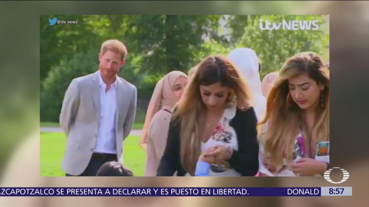 Príncipe Enrique acompaña a Meghan Markle su primer evento