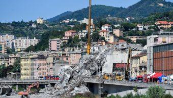 Puente Morandi Génova colapsado por camión, según hipótesis