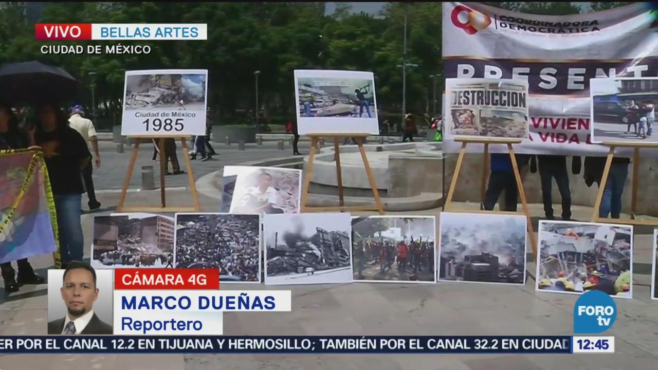 Realizan Homenaje Víctimas Sismos Bellas Artes