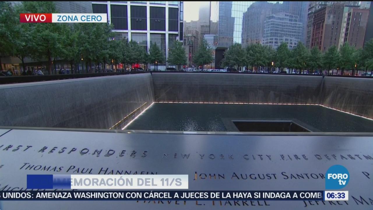 Recordarán a víctimas de los atentados del 11S en Nueva York