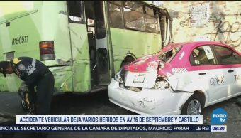 Registran accidente vehicular en Gustavo A. Madero