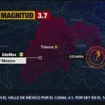 Reportan sismo magnitud 2.7 en Ozumba, Estado de México