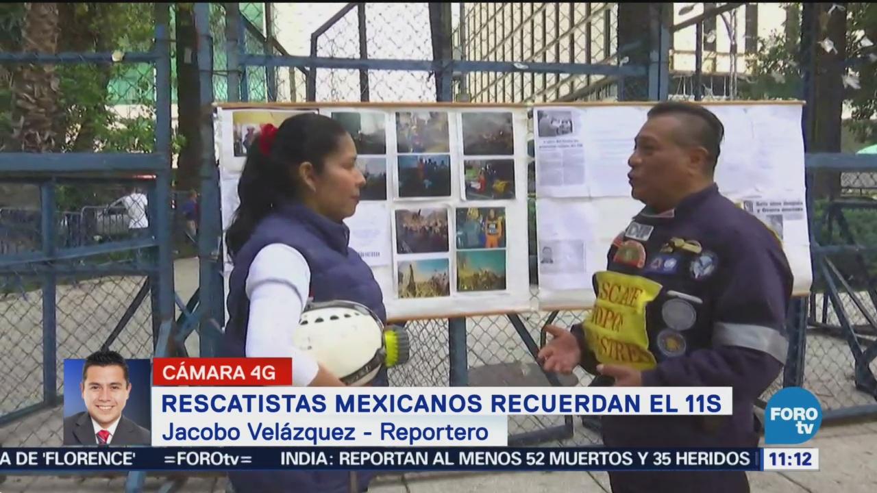 Rescatistas mexicanos recuerdan atentados del 11S