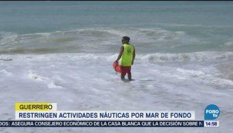 Restringen actividades náuticas por Mar de Fondo