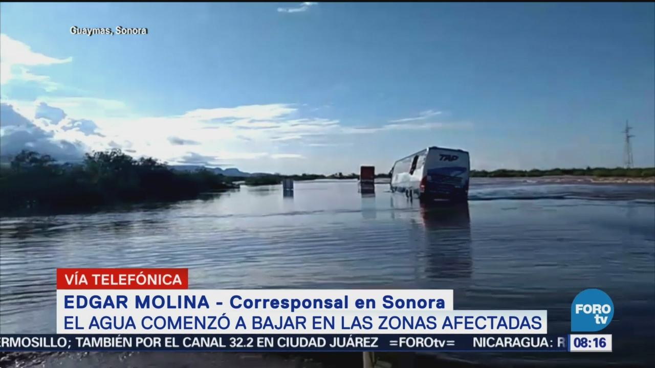 Agua Comienza Abajar Zonas Afectadas Sonora