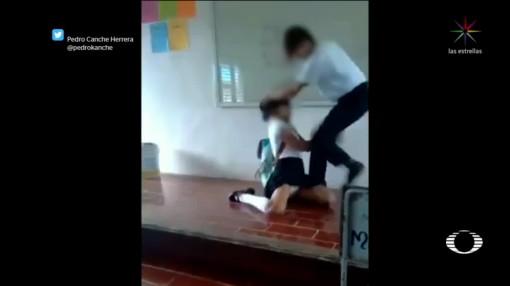 Viraliza Video Joven Golpea Compañera Escuela