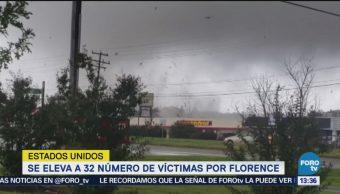 Suman 32 muertos por 'Florence' en EU