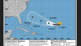 Tormenta Florence puede convertirse de nuevo en huracán