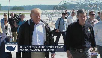 Trump arremete contra senadores por presupuesto para muro
