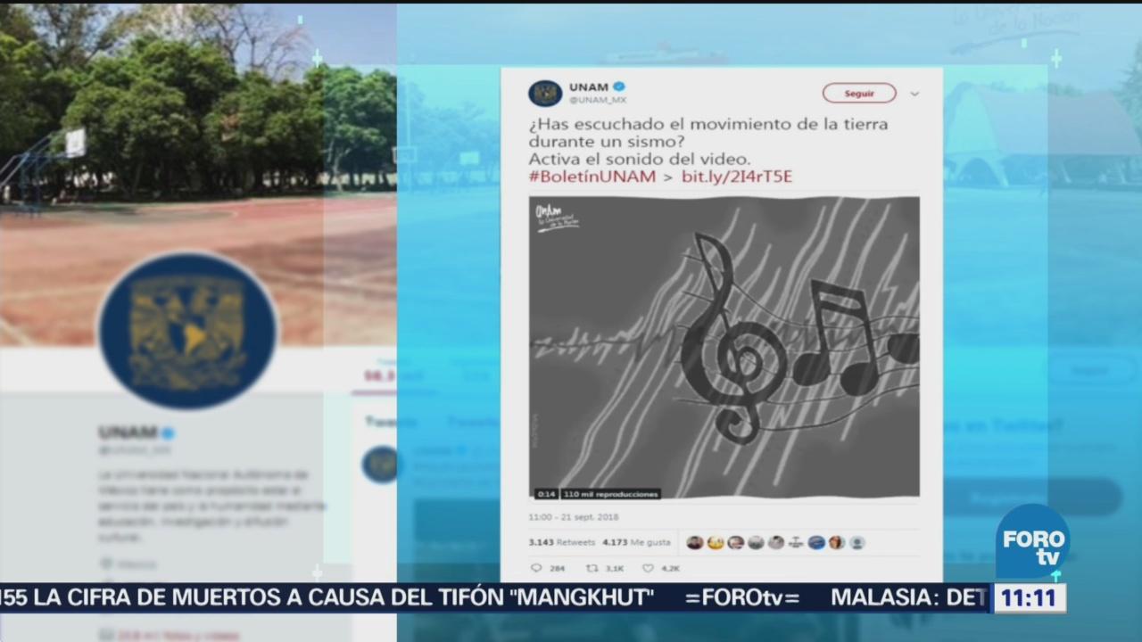 UNAM Da A Conocer Sonidos Sismo CDMX