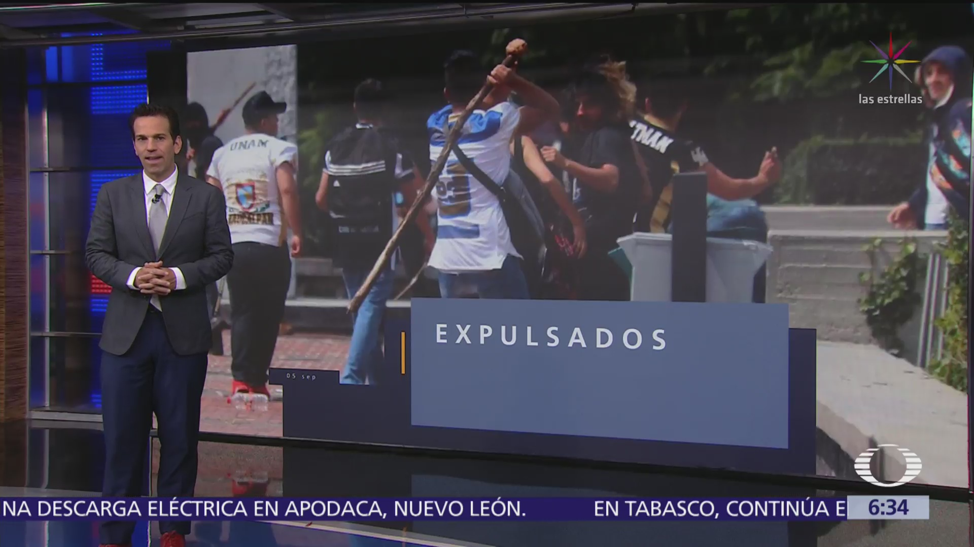 UNAM expulsa a 18 porros que infiltraron manifestación del CCH