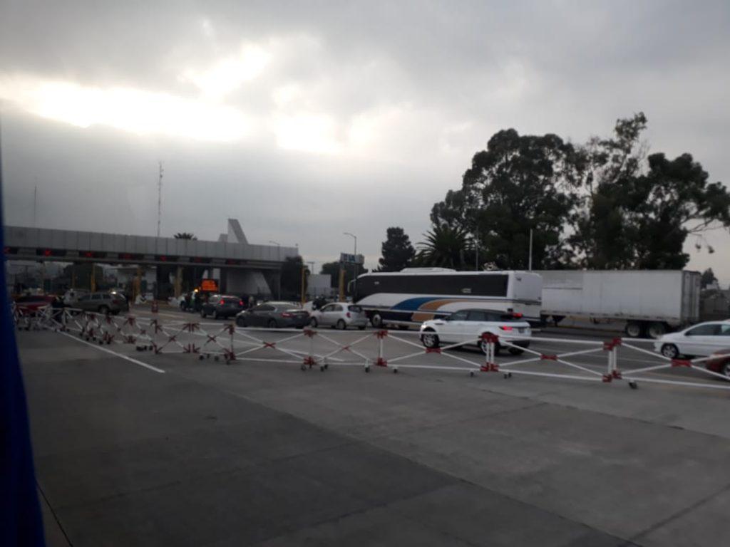 Vialidad afectada por bloqueo de manifestantes