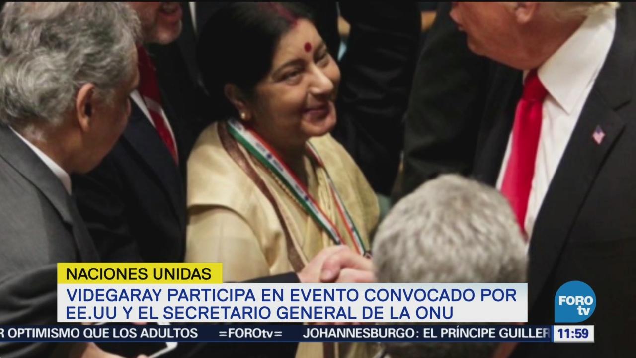 Videgaray participa en evento convocado por EU y secretario