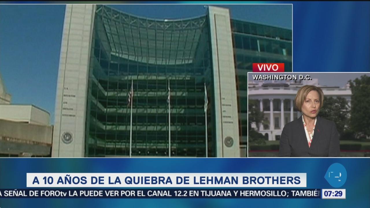 Wall Street, a 10 años de quiebra del banco Lehman Brothers