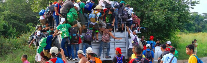 Caravana Migrante; exigen transporte para que lleguen a CDMX