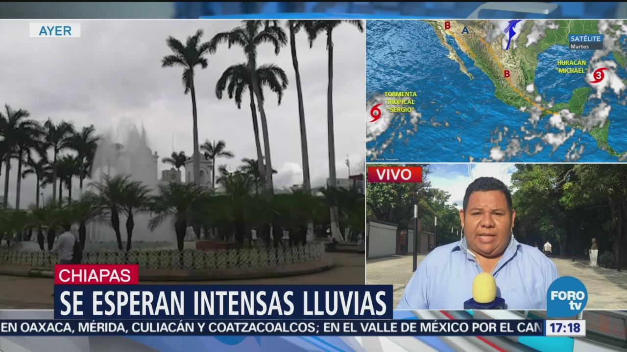 Activan alerta naranja para región costera de Chiapas