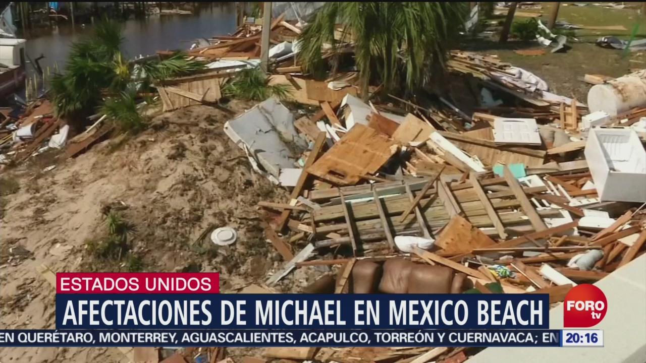 Afectaciones Huracán Michael Mexico Beach Florida