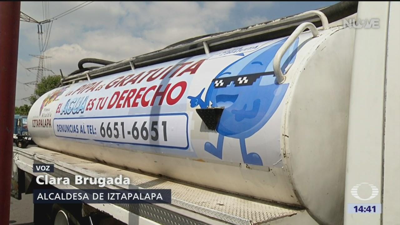 Alcaldesa de Iztapalapa advierte sobre corte de agua