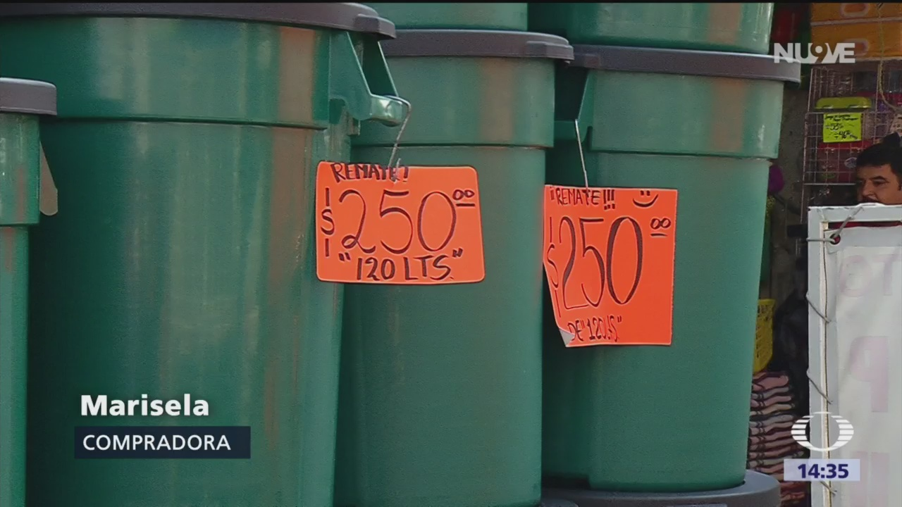 Aumenta venta de recipientes por megacorte de agua