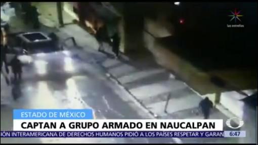 Captan en video a convoy de hombres armados en Naucalpan