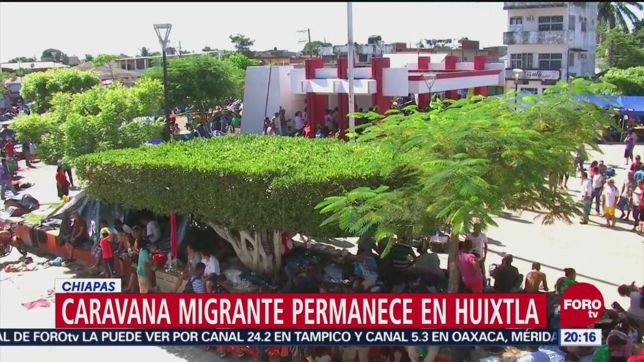 Caravana Migrante Descansa Huixtla Chiapas México