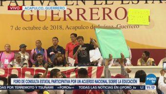 Ceteg Irrumpe Foro De Consulta Estatal Participativa Guerrero