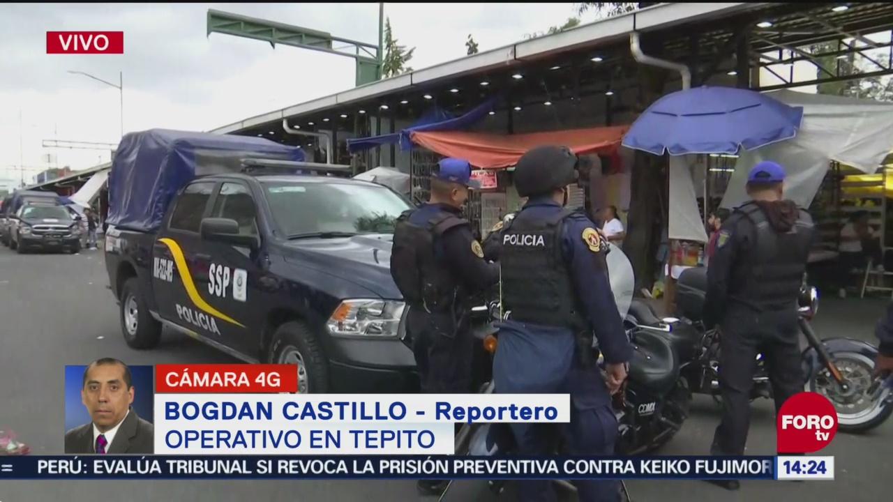 Detienen a dos personas con armas de fuego en Tepito
