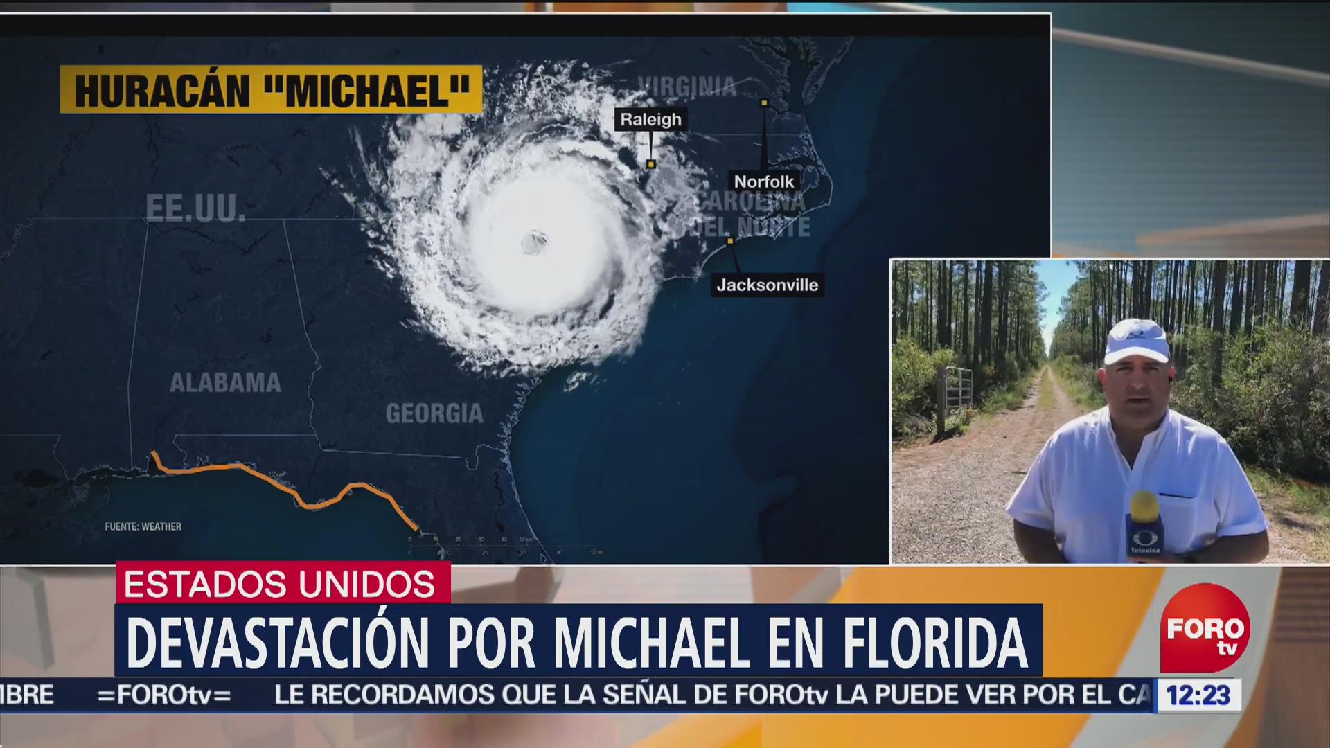 Devastación en Florida por el huracán 'Michael'