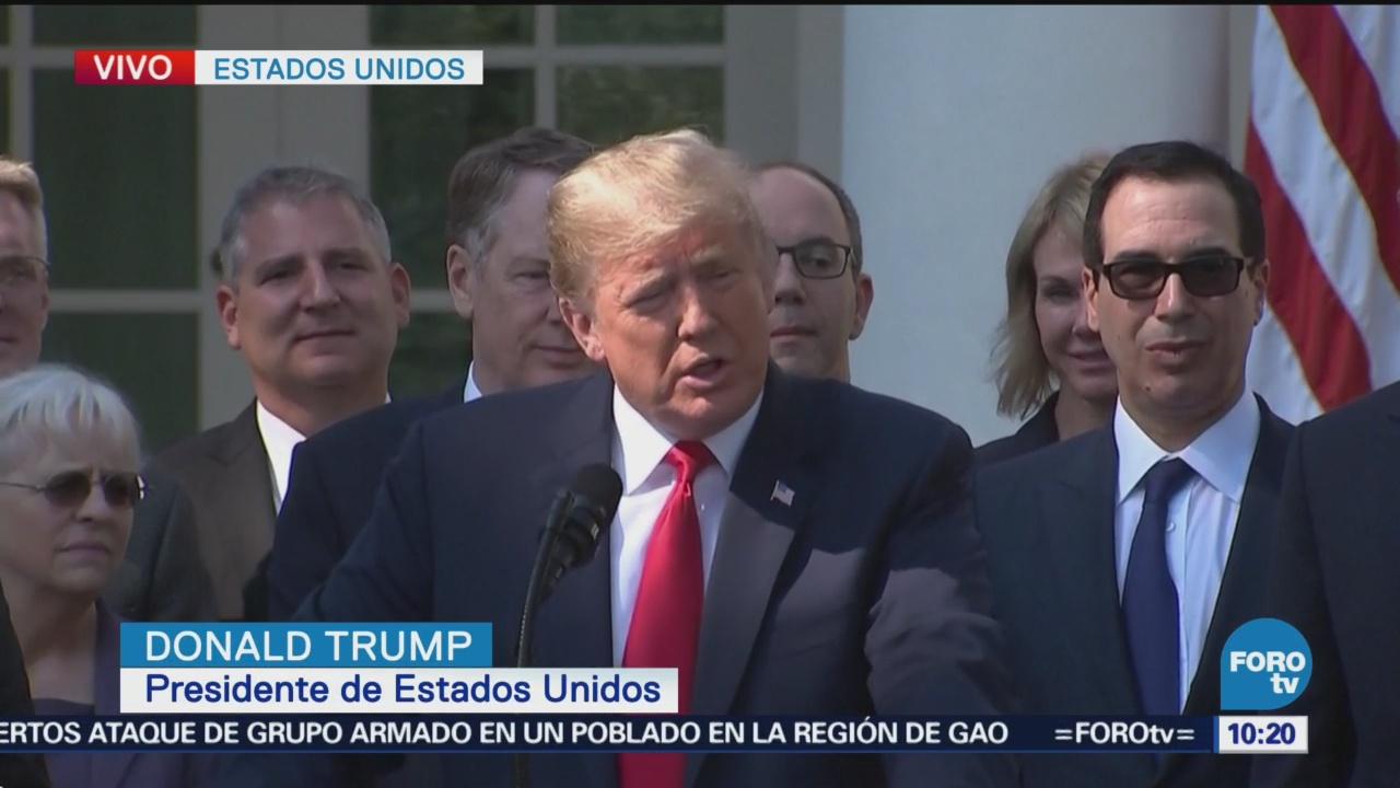 Donald Trump dirige mensaje por firma del USMCA