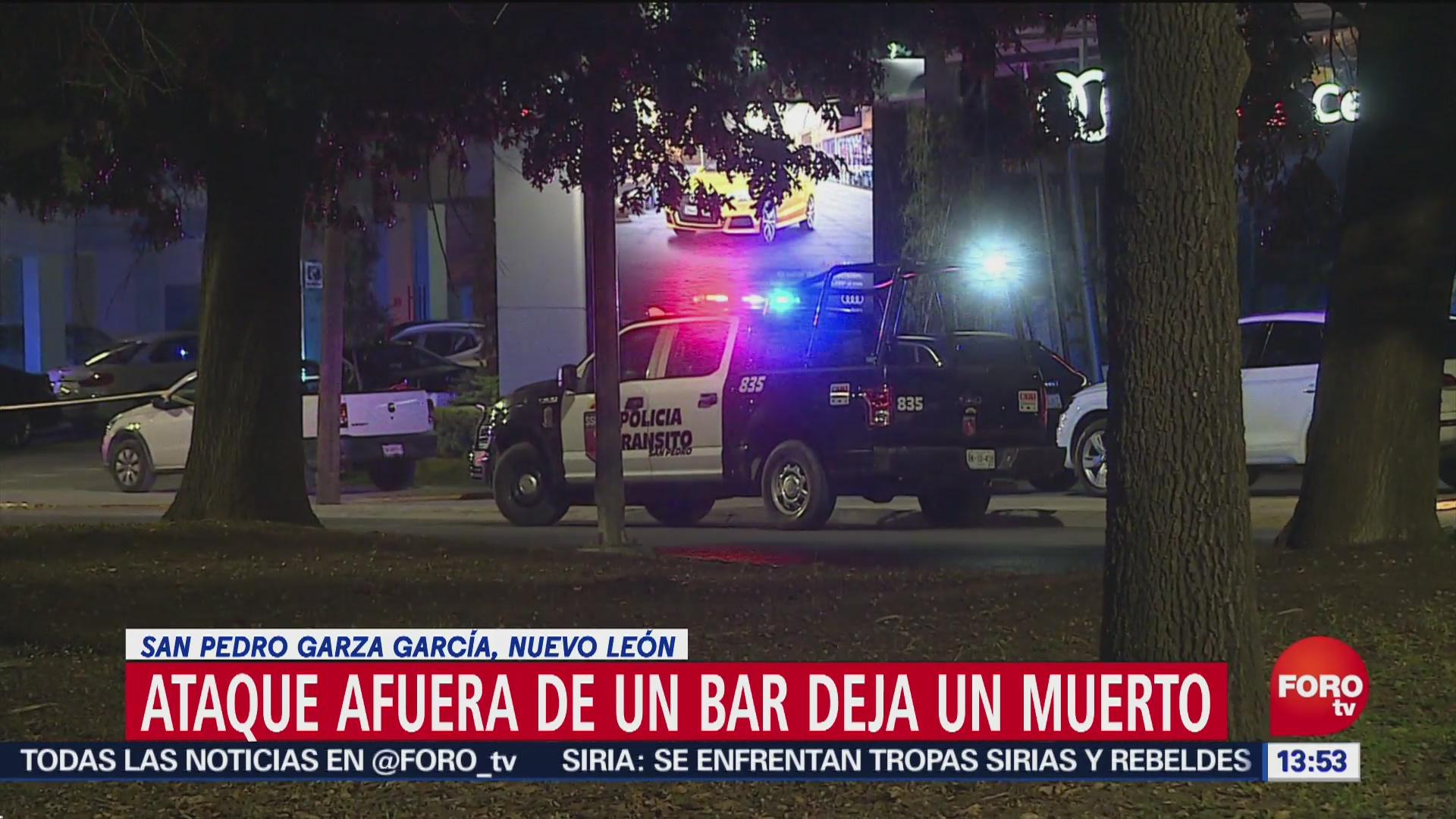 Escolta es ejecutado en bar de San Pedro, en Nuevo León