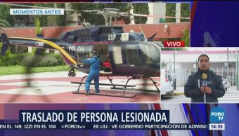 Grupo 'Condor' auxilia a persona atropellada