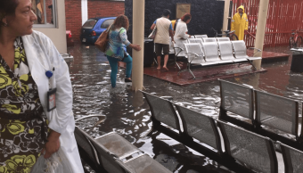 Lluvias inundan hospital de Ticomán, en Gustavo A. Madero