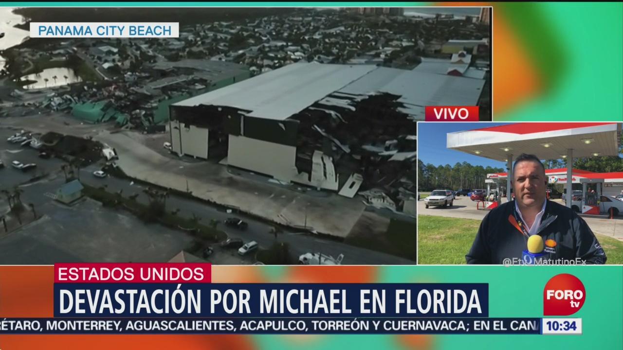 Huracán Michael continúa avance por el estado de Florida