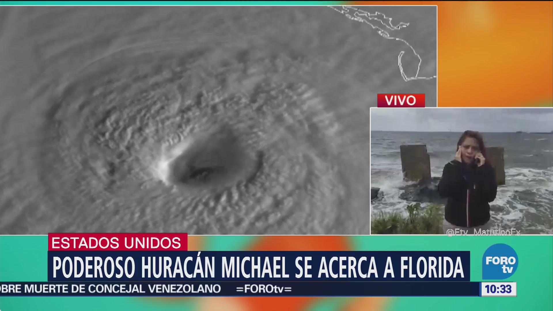 Huracán Michael se acerca a Florida