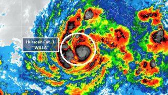 willa convierte huracan categoria 1 suroeste de colima