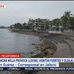 Hucarán 'Willa' deja lluvias intermitentes en Jalisco; esperan se intensifiquen los efectos durante la madrugada del martes
