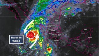 Huracán 'Willa' y tormenta 'Vicente' se acercan a México