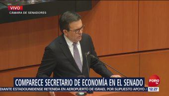 Ildefonso Guajardo comparece ante el Senado