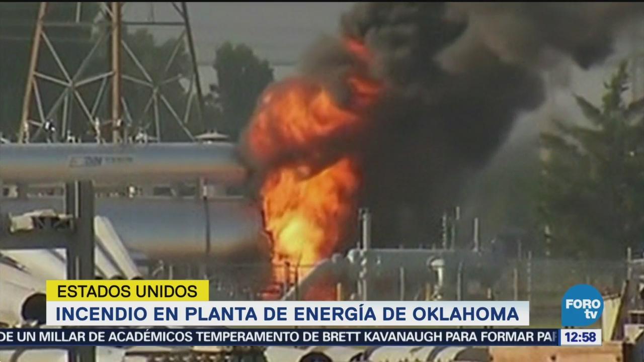 Incendio en una planta de energía de Oklahoma