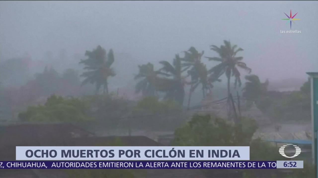 India registra 300 mil desplazados por el ciclón Titli