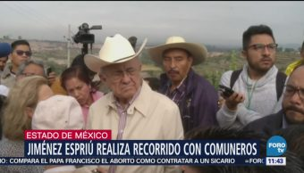 Javier Jiménez Espriú recorre zonas afectadas construcción