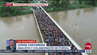 Jorge Castañeda: Caravana migrante, primera crisis diplomática de AMLO