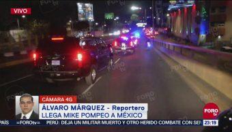 Llega Mike Pompeo México, Secretario Estado Estados Unidos,