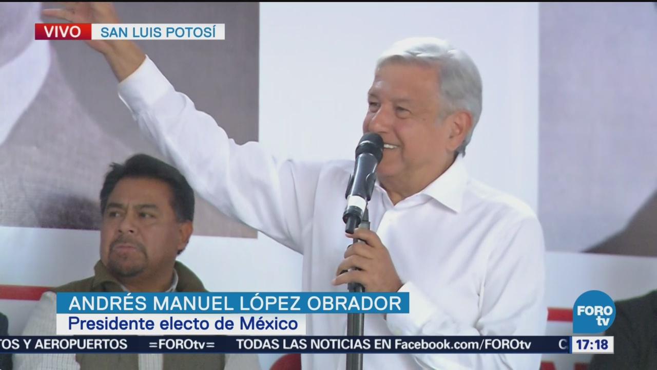 López Obrador promete remediar injusticias
