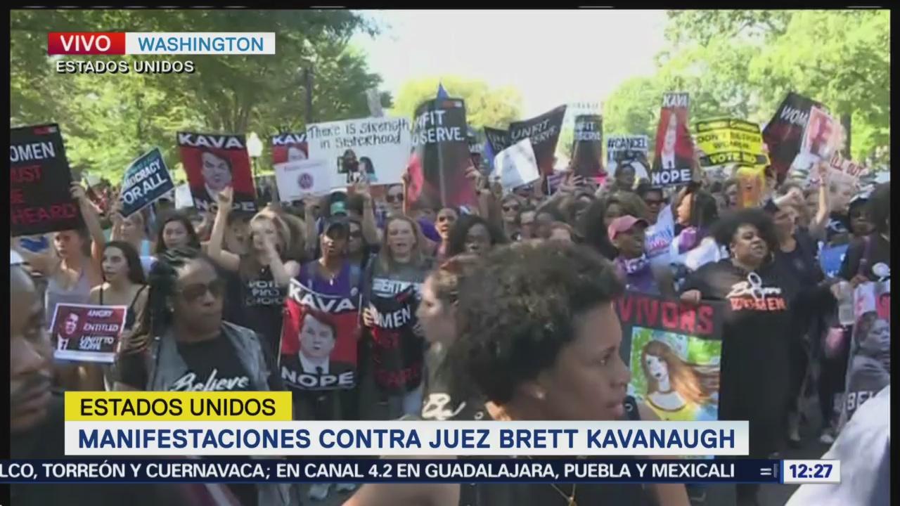 Manifestaciones en Estados Unidos contra el juez Brett Kavanaugh