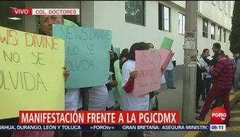 Manifestantes reclaman muertes de jóvenes a PGJCDMX