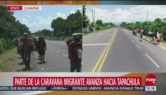 Migrantes hondureños avanzan hacia Tapachula
