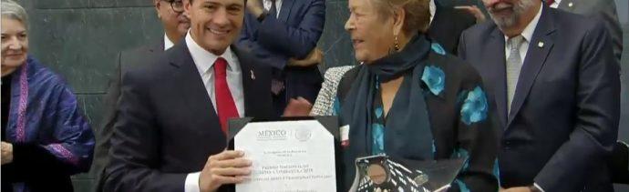 Peña Nieto entrega el Premio Nacional de Ciencias 2018