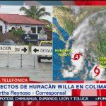 Precipitaciones intensas en Colima por el huracán Willa